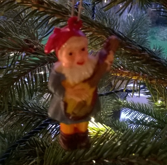 this little chap has just spent his 58th Christmas hanging on a tree!